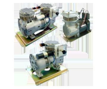 気体用 ロータリ真空ポンプ/ブロワ 株式会社三津海製作所(MITSUVAC)製 ピストン型、エアコンプレッサ(AC駆動)(排気速度:20-126L/min)