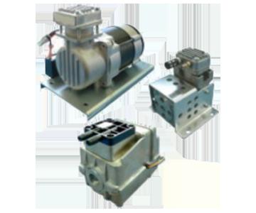 気体用 ロータリ真空ポンプ/ブロワ 株式会社三津海製作所(MITSUVAC)製 小型ピストン型、エアコンプレッサ(DC駆動)(排気速度:4-20L/min)