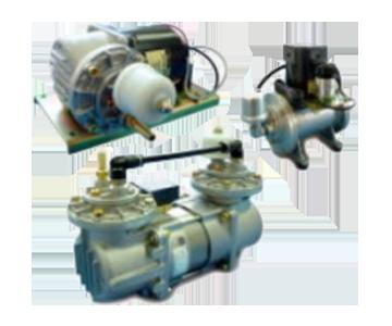 気体用 ロータリ真空ポンプ/ブロワ 株式会社三津海製作所(MITSUVAC)製 ダイアフラム真空ポンプ(AC駆動)(排気速度:12-62L/min)